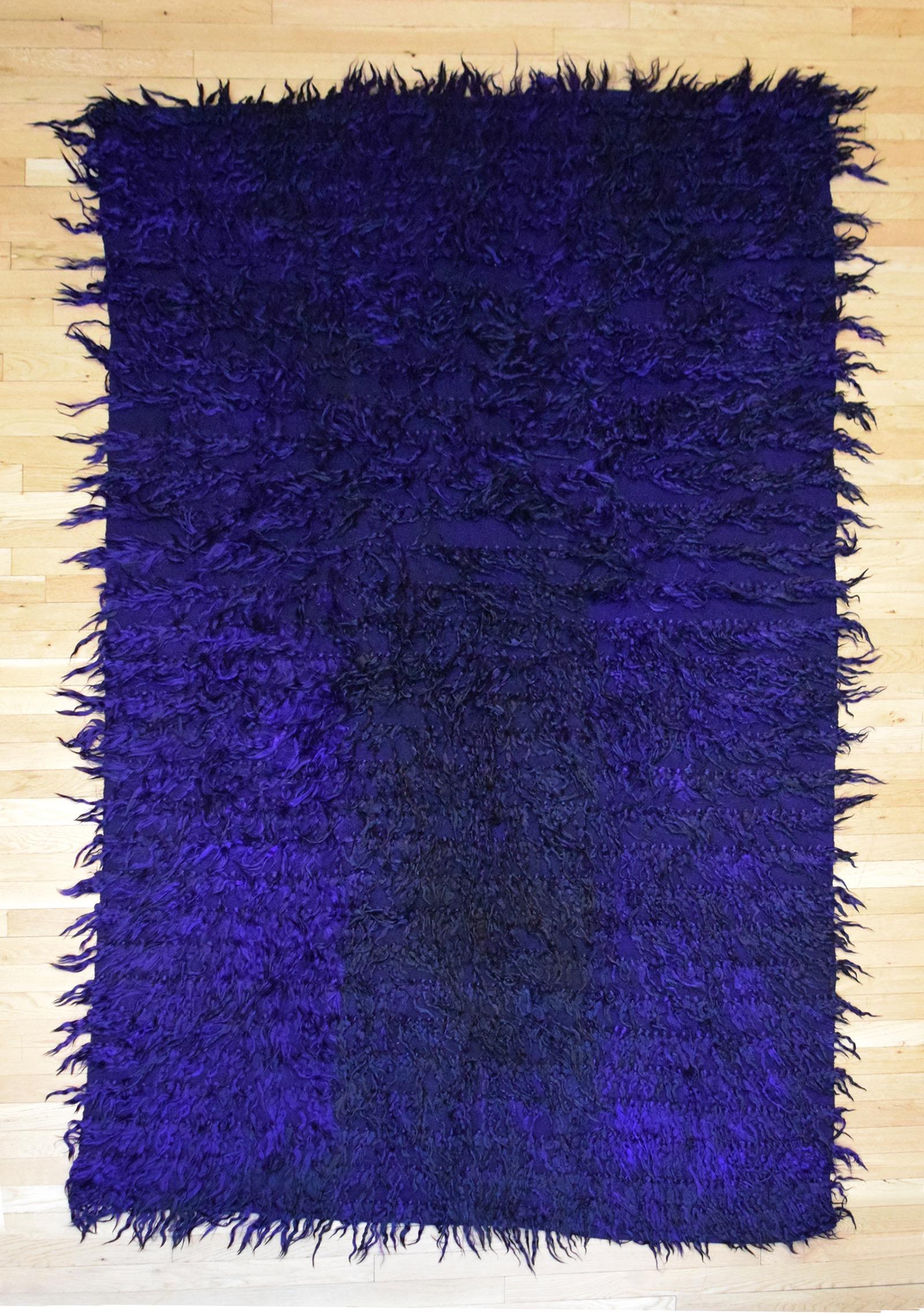 Dark Purple Rug straight